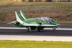 Equipe Aerobatic da exposição da força aérea do saudita Imagens de Stock Royalty Free