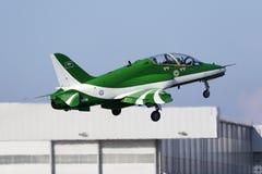 Equipe Aerobatic da exposição da força aérea do saudita Imagem de Stock