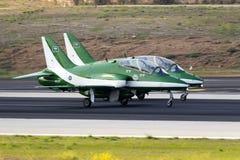 Equipe Aerobatic da exposição da força aérea do saudita Foto de Stock