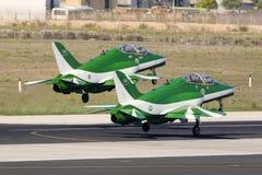 Equipe Aerobatic da exposição da força aérea do saudita Fotografia de Stock