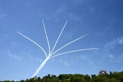 Equipe aerobatic da força aérea Imagens de Stock Royalty Free