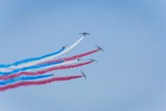 Equipe aerobatic da força aérea francesa Fotografia de Stock Royalty Free
