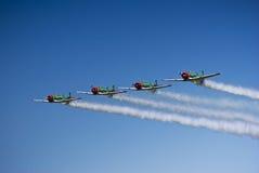 Equipe Aerobatic de Harvard dos leões do vôo de Castrol Fotografia de Stock
