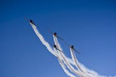 Equipe Aerobatic de Harvard, entrante Imagem de Stock Royalty Free