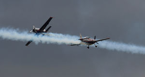 A equipe aerobatic do indicador das lâminas Foto de Stock