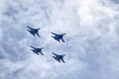 Equipe aerobatic do russo Foto de Stock