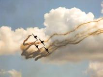 Equipe aerobatic dos aviões de jato do falcão Foto de Stock Royalty Free