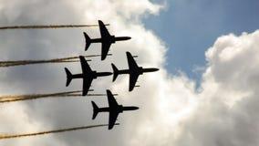 Equipe aerobatic dos aviões de jato do falcão Fotografia de Stock