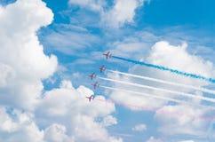 Equipe Aerobatic na ação Foto de Stock
