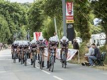 Equipe AG2R-La Mondiale - Team Time Trial 2015 Foto de Stock