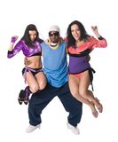 Equipe alegre da dança Foto de Stock