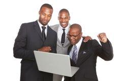 Equipe americana segura do negócio de Afrcican Fotografia de Stock