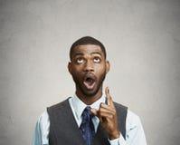 Equipe apontar acima com dedo, tenha uma ideia Imagem de Stock Royalty Free
