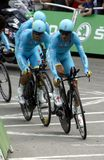 Equipe Astana Pro Team Tour de France 2015 Stock Photography
