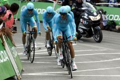 Equipe Astana Pro Team Tour de France 2015 Stock Images