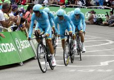 Equipe Astana Pro Team Tour de France 2015 Royalty Free Stock Photo