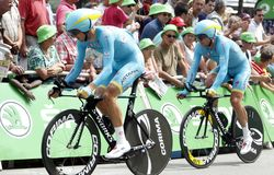 Equipe Astana Pro Team Tour de France 2015 Stock Photos