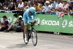 Equipe Astana Pro Team Tour de France 2015 Royalty Free Stock Photography