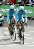 Equipe Astana Pro Team Tour de France 2015 Royalty Free Stock Images