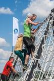 A equipe ataca a parede líquida na raça do extrim Tyumen Rússia Imagem de Stock Royalty Free