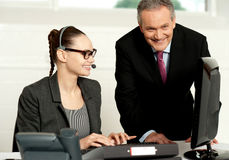 Equipe bem sucedida do negócio que trabalha junto Imagem de Stock Royalty Free