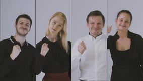 Equipe bem sucedida do neg?cio video estoque