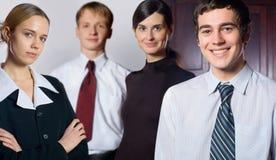 Equipe bem sucedida feliz do negócio imagens de stock royalty free