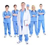Equipe bem sucedida feliz dos doutores foto de stock royalty free