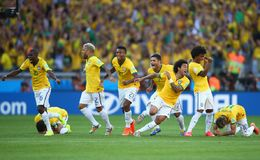 Equipe Bresil  Coupe du Monde 2014 Royalty Free Stock Images