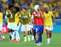 Equipe Bresil  Coupe du Monde 2014 Royalty Free Stock Image