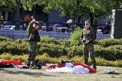 Equipe canadense do paraquedas das forças Foto de Stock Royalty Free