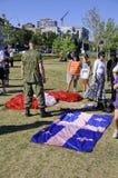 Equipe canadense do paraquedas das forças Fotos de Stock Royalty Free