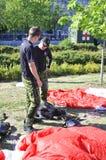 Equipe canadense do paraquedas das forças Fotografia de Stock Royalty Free