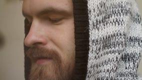 Equipe a cara do ` s com um close-up da barba vídeos de arquivo