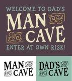 Equipe a caverna, caverna Logo Emblem Set do ` s do paizinho Foto de Stock Royalty Free