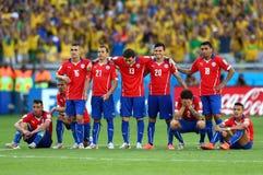 Equipe Chili Coupe du Monde 2014 Foto de Stock Royalty Free
