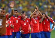 Equipe Chili Coupe du Monde 2014 Fotos de Stock Royalty Free