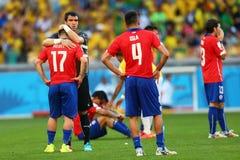 Equipe Chili Coupe du Monde 2014 Imagens de Stock Royalty Free