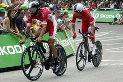 Equipe Cofidis Solutions Crédits Tour de France 2015 Royalty Free Stock Photography