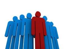 Equipe com líder Imagem de Stock
