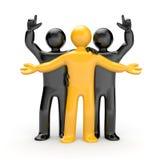 Equipe com líder ilustração stock