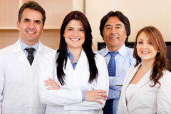 Equipe corporativa no hospital Foto de Stock Royalty Free