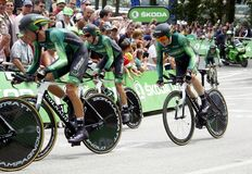 Equipe créditAgricole Tour de France 2015 Royaltyfria Bilder