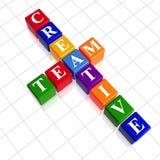 A equipe creativa da cor gosta de palavras cruzadas Imagens de Stock Royalty Free