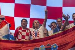 Equipe croata que vem em casa após FIFA final 2018 Imagens de Stock Royalty Free
