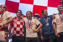 Equipe croata que vem em casa após FIFA final 2018 Imagem de Stock