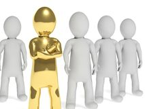 equipe 3d com líder Imagem de Stock Royalty Free
