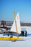 Equipe da competência de barco do gelo Fotos de Stock