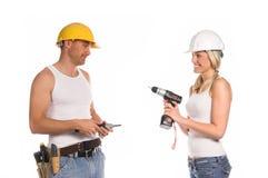 Equipe da construção foto de stock