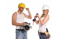 Equipe da construção fotos de stock